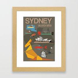 Sydney Australia Poster Version II Framed Art Print