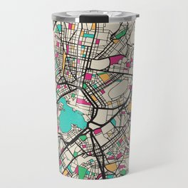 Colorful City Maps: Athens, Geece Travel Mug