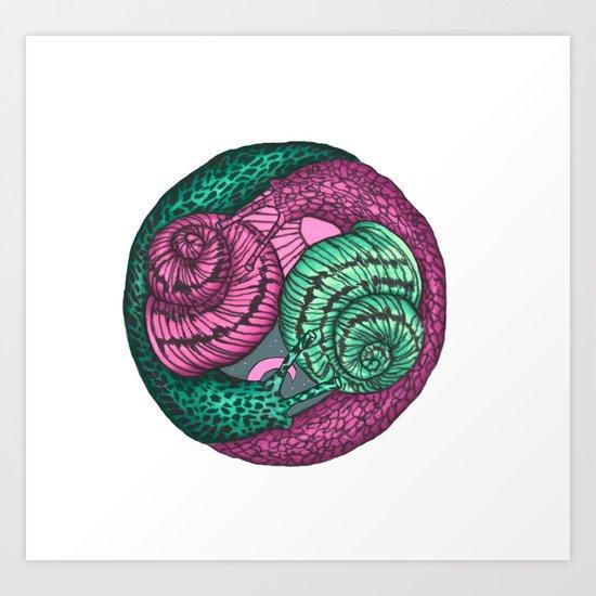 circle of snails Art Print