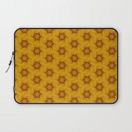 Yellow Flower Chain Pattern Laptop Sleeve