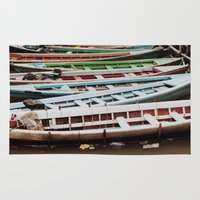 boats Area & Throw Rugs featuring Boats by BTP Designs