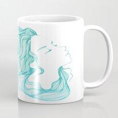 blue hair fish Mug