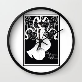 Virginia Woolf Art Nouveau Wall Clock