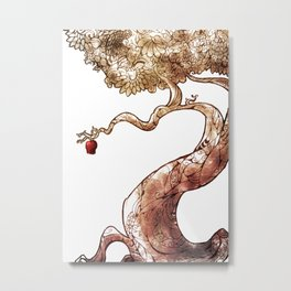 Red and Crooked Metal Print
