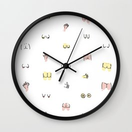 more butts and boobies Wall Clock