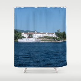 The Sagamore Hotel & Lac du Saint Sacrement Steamboat Shower Curtain