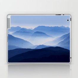 Periwinkle Landscape Mountains Parallax Laptop & iPad Skin