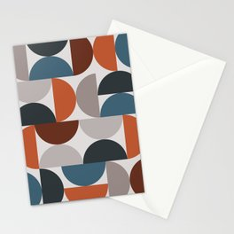 Mid Century Modern Geometric 25 Stationery Cards