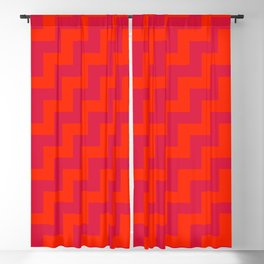 Scarlet Red and Crimson Red Steps RTL Blackout Curtain