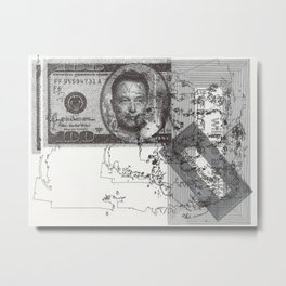 Elon Musk: Everything Will Be Alright Metal Print