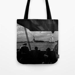 Liberty w/ Sailboat Tote Bag