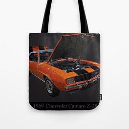 1969 Chevy Camaro Z28 Tote Bag