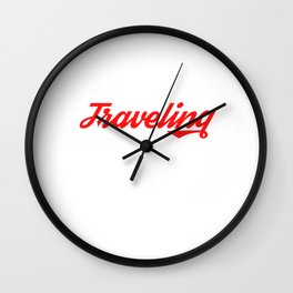 Are you a traveler? A Nice Traveling Design that'll be a Perfect t-shirt for Exploring Explore Wall Clock