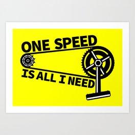 Single Speed Bike Art Print