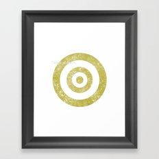 Target of desire - gold Framed Art Print