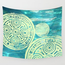 swimmingly three Wall Tapestry