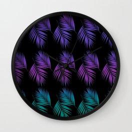 Palm Leaves Pattern #19 #Funky #decor #art #society6 Wall Clock