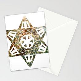 Metatron's Cube Time Wheel ~ Yellow Tarantula Stationery Cards