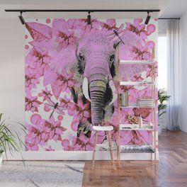 ELEPHANT PINK Wall Mural