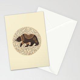 Scandinavian Folk Art Bear Stationery Cards