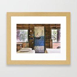The Boat & The Cabin Framed Art Print