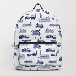 Antique Steam Engines // Dark Blue Backpack