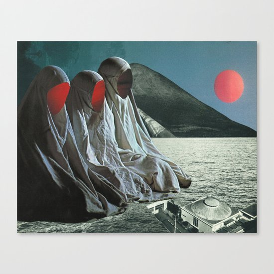 """""""The Sisters of Mercy"""" Martin Carri Collaboration Canvas Print"""