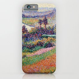 """Gorgeous French Countryside Landscape """"La Senna"""" by Maximilien Luce, 1890 iPhone Case"""