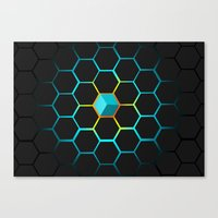 technology Canvas Prints featuring Technology hive by JW's art