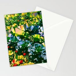 Abstract Garden Low Poly Geometric Triangles Stationery Cards