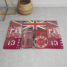 Great Britain London Union Jack England Rug