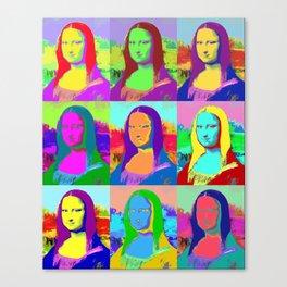 Mona Lisa - Pop Art Canvas Print
