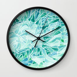 FERNING: Aqua ferns (2015) Wall Clock