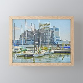 Domino Sugars on a Clear Day, Baltimore, Maryland  Framed Mini Art Print