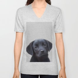 LABRADOR chiot, puppy painting, labrador art, labra puppy,Puppies Wall Decal Unisex V-Neck