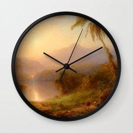 "Frederic Church ""Valley of Santa Isabel, New Granada"" Wall Clock"