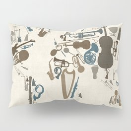 Musical Instruments Map of the World Pillow Sham
