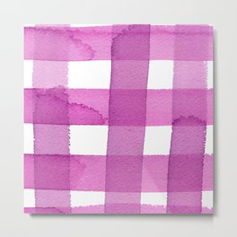 VERY BERRY GINGHAM by C'EST LA VIV Metal Print