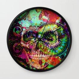 funky skull i Wall Clock