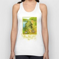 crocodile Tank Tops featuring Crocodile by Natalie Berman