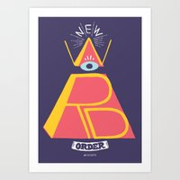 new order Art Prints featuring New Word Order! by Muro Buro