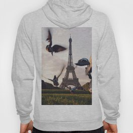 Birds by the Eiffel Tower (Color) Hoody