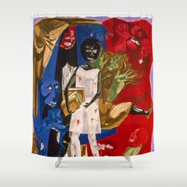 Ordeal of Alice by Jacob Lawrence African American Masterpiece Shower Curtain