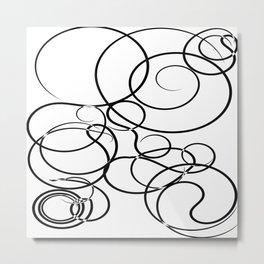 Motif Abstrait Lignes Metal Print