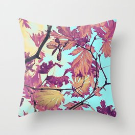 Japanaese Tree with hänging nouses in the Sun Throw Pillow