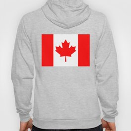 Canadian National flag, Authentic color and 3:5 scale version Hoody