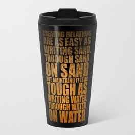 """Creating Relations are... """"Mrlyn Mnroe"""" Life Inspirational Quote Travel Mug"""