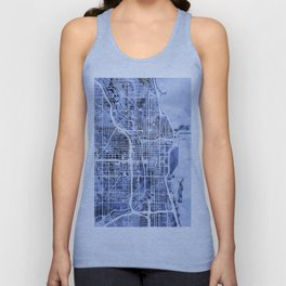 Chicago City Street Map Unisex Tank Top
