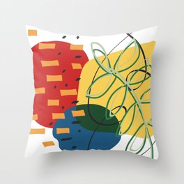 leaves and confetti Throw Pillow
