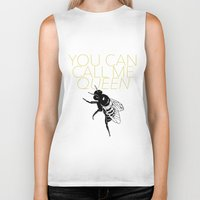 lorde Biker Tanks featuring Queen Bee by kirstenariel